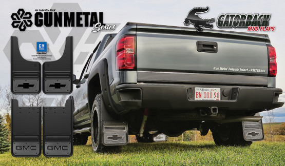 New Gatorback Gunmetal GM Licensed Mud Flaps