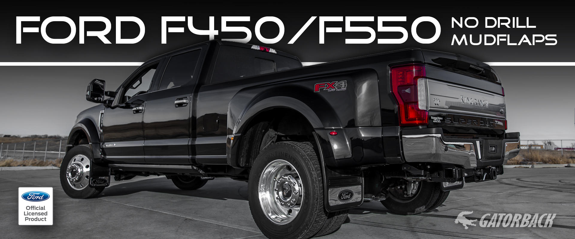 2018 Ford F-450 Super Duty Gatorback GCR Mud Flaps
