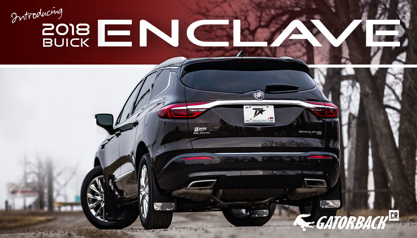 Gatorback CR Mud Flaps for 2018 Buick Enclave