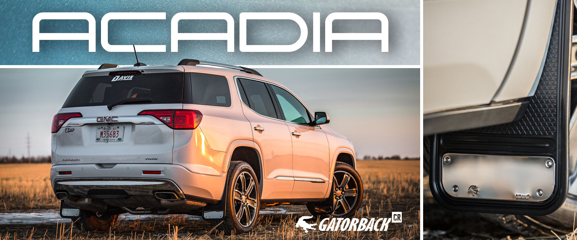 Gatorback CR Mud Flaps for 2018 GMC Acadia