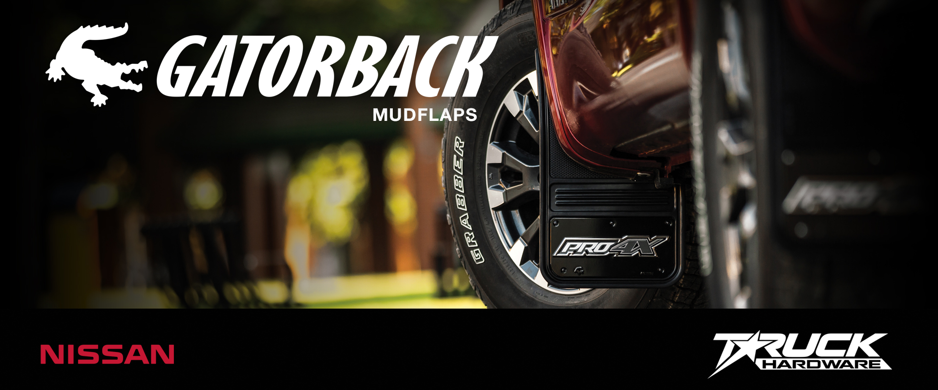 Gatorback CR Mud Flaps for 2018 Nissan Titan PRO-4X