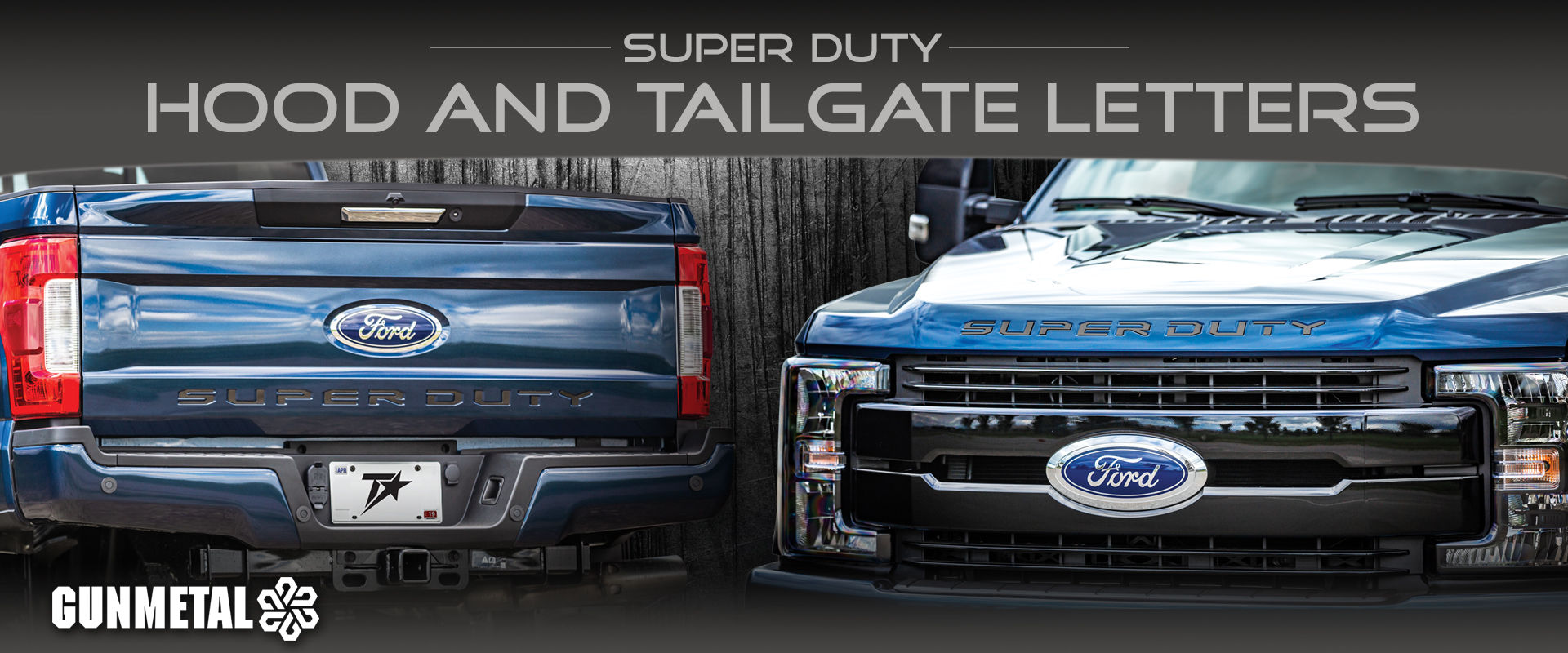 New Ford Super Duty Gunmetal Letters