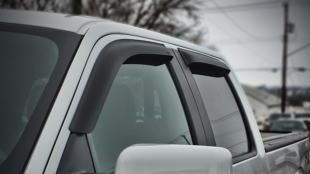 Truck Hardware Egr Tape On Window Visors Matte Black