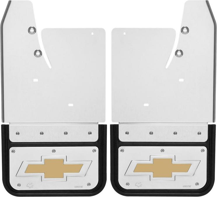 Gatorback CS Chevrolet Mud Flaps - Gold