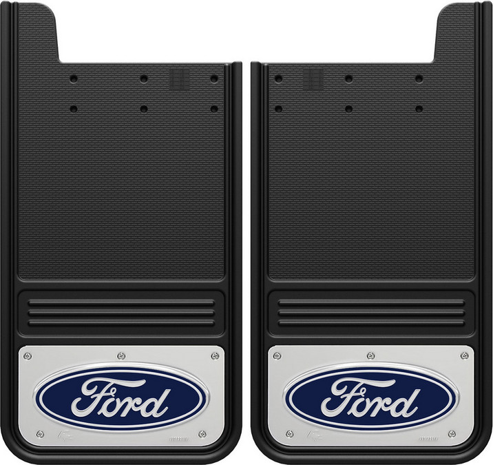 Gatorback Ford Oval Mud Flaps - Blue