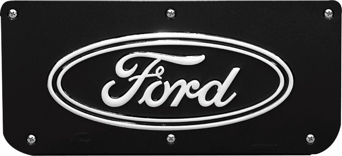 Gatorback Ford Oval Plate - Black/Wrap