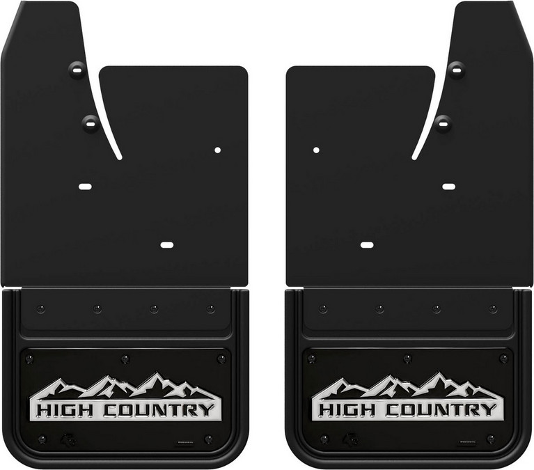 Gatorback CS High Country Mud Flaps - Black/Wrap