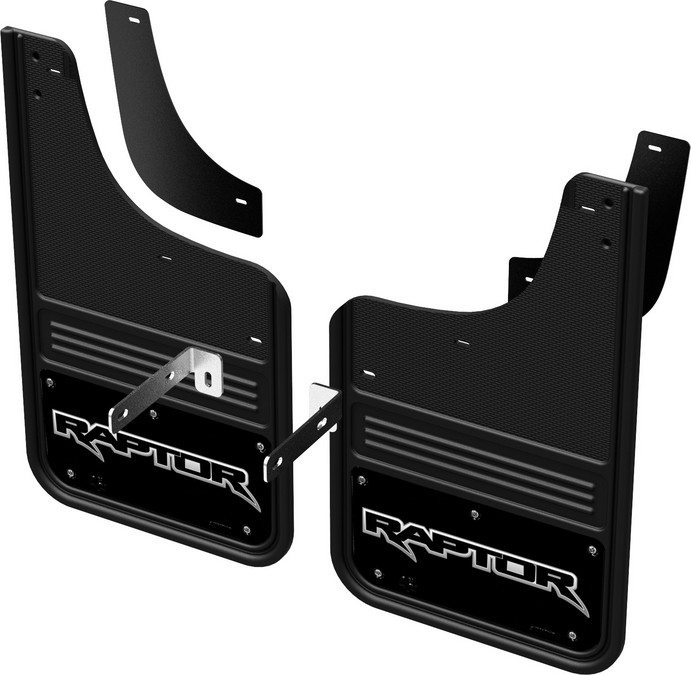 Gatorback CR Raptor Mud Flaps - Black/Wrap
