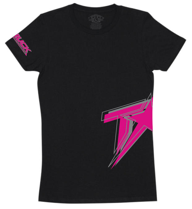 Logo Women's T-Shirt - Black/Pink