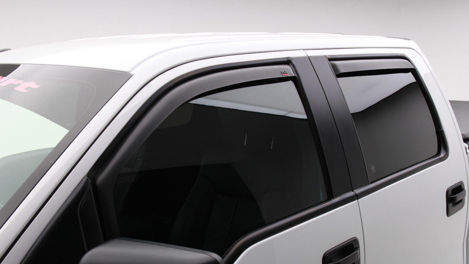 Truck Hardware Egr In Channel Window Visors Matte Black